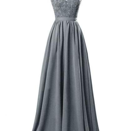 2016 Custom Charming Chiffon Gray ..