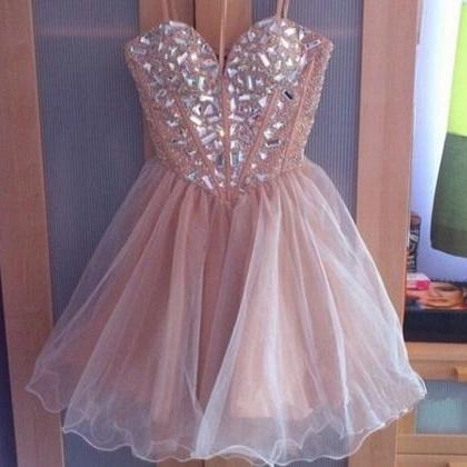 Homecoming Dress, A-line Sweetheart..