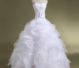 Ball Gown Organza we..