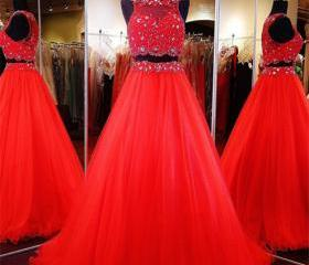 2 Piece Prom Gown,T..