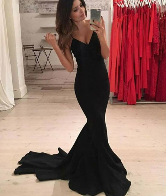 Sexy black formal gowns
