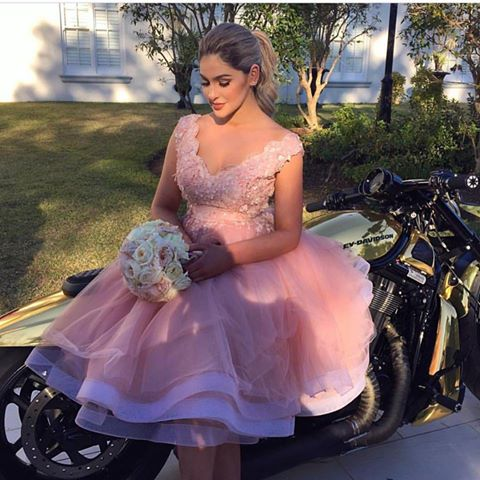 Prom Dress,Blush Pink Prom Dresses,Prom Gown,Bridesmaid Dress,Short ...