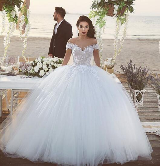 Wedding Dresses,Bridal Gowns,Princess Wedding Dresses With Sash ...