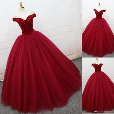 e4192d5d54b Red Ball Gown Prom Dress