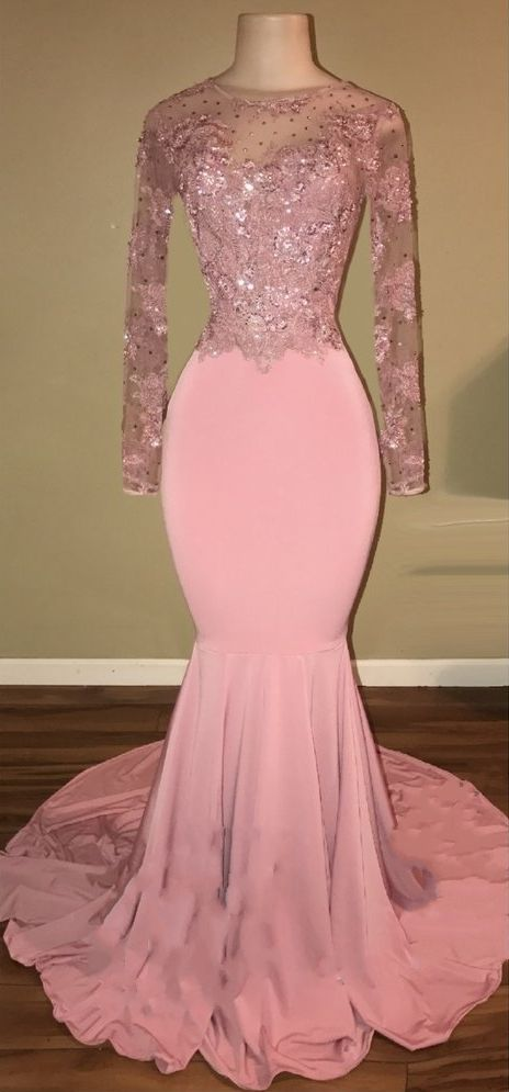 9ed5d41a8d Shiny Pink Backless Beaded Prom Dresses