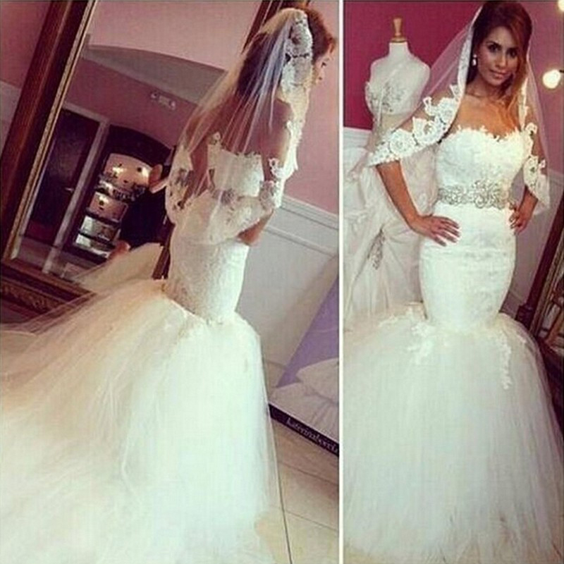 67126fa6e091 Sexy Mermaid Wedding Dresses Sweetheart Neckline Lace Applique Beaded Belt  Robe De Mariee,Bridal Gown Wedding Dresses,custom wedding dresses
