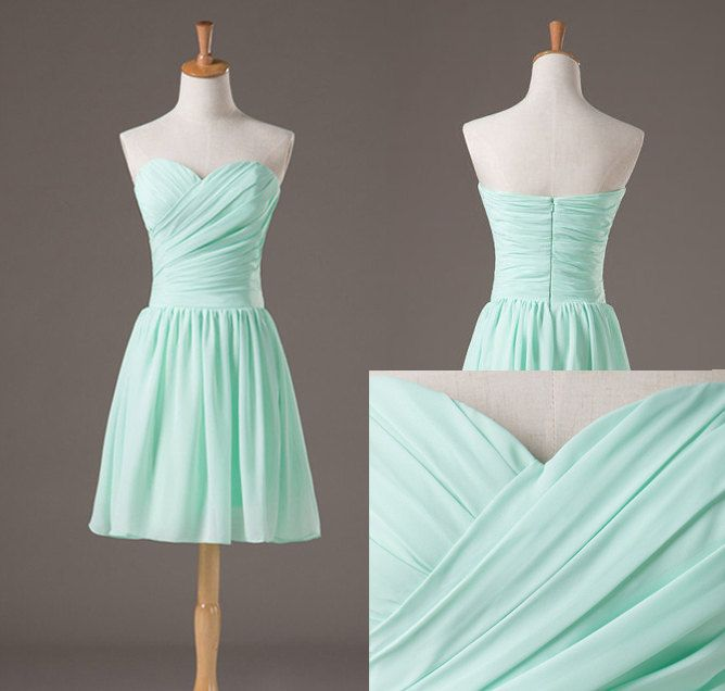 bbb71379f6e95 Backless Pretty And Cute Mint Short Simple Prom Dresses 2016