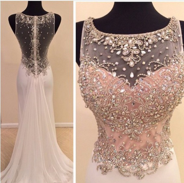 d0fb37aa10 Luxury Beads chiffon formal DRESSES ,2016 Real Made Beads Prom Dresses,  Charming Floor-Length Prom Dresses, Sexy O-Neck Prom Dresses, A-Line  Sequins Prom ...