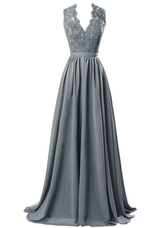 2016 Custom Charming Chiffon Gray Prom Dress,Lace Beading Evening Dress,Deep V-Neck Prom Dress,cheap Beading Evening Dress,Sexy Sweetheart Prom Dress,Cocktail Dresses, formal dresses,Wedding guests dresses
