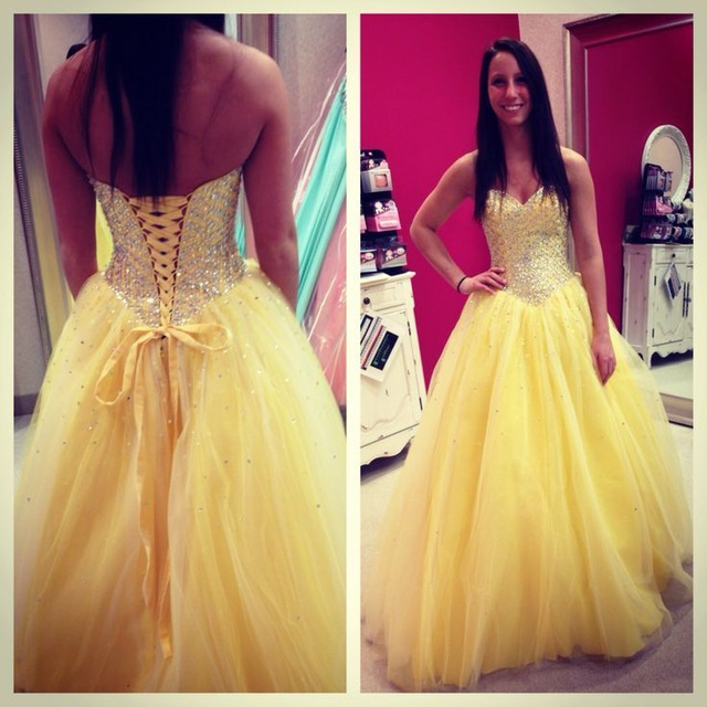 c4b85f02d8d New Luxury Beads Ball Gown Yellow Tulle Formal Dress,Sweetheart Backless  Beads Formal Evening Party Gown,Women Dress, Sexy Backless Prom Dress ,  Prom ...