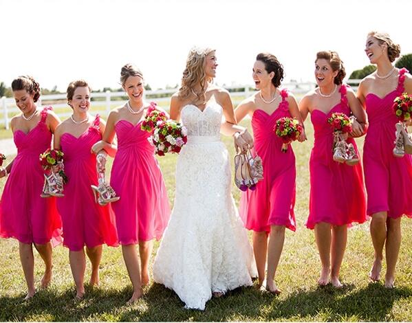 631d522f1e Hot Pink Bridesmaid Dresses