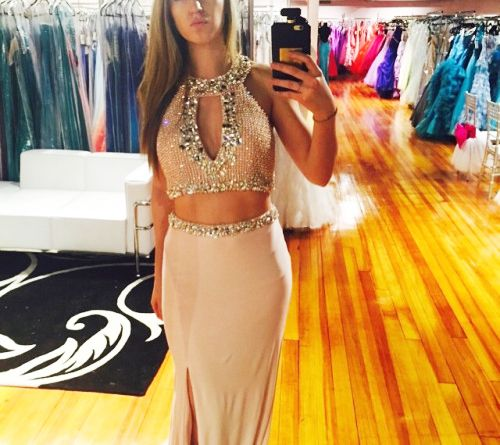 Sexy long prom dress,elegant 2 pieces long prom gown,slit graduation dress,sparkle formal dress,Party Dress,Wedding Guest Prom Gowns, Formal Occasion Dresses,Formal Dress