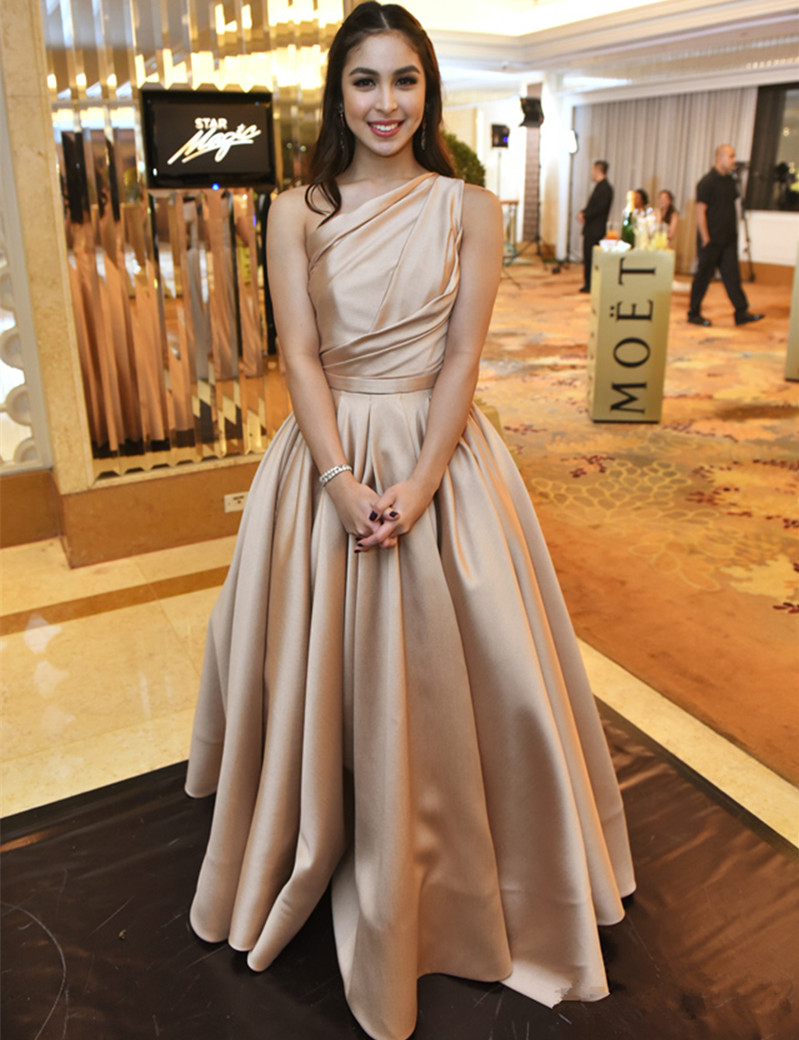 b5c5664147713 Prom Dress,Sexy Abendkleider Lang Elegant Woman Evening Long Dresses One  Shoulder A-Line Satin Floor Length Evening Gowns Robe De Soiree,Floor-length  Prom ...