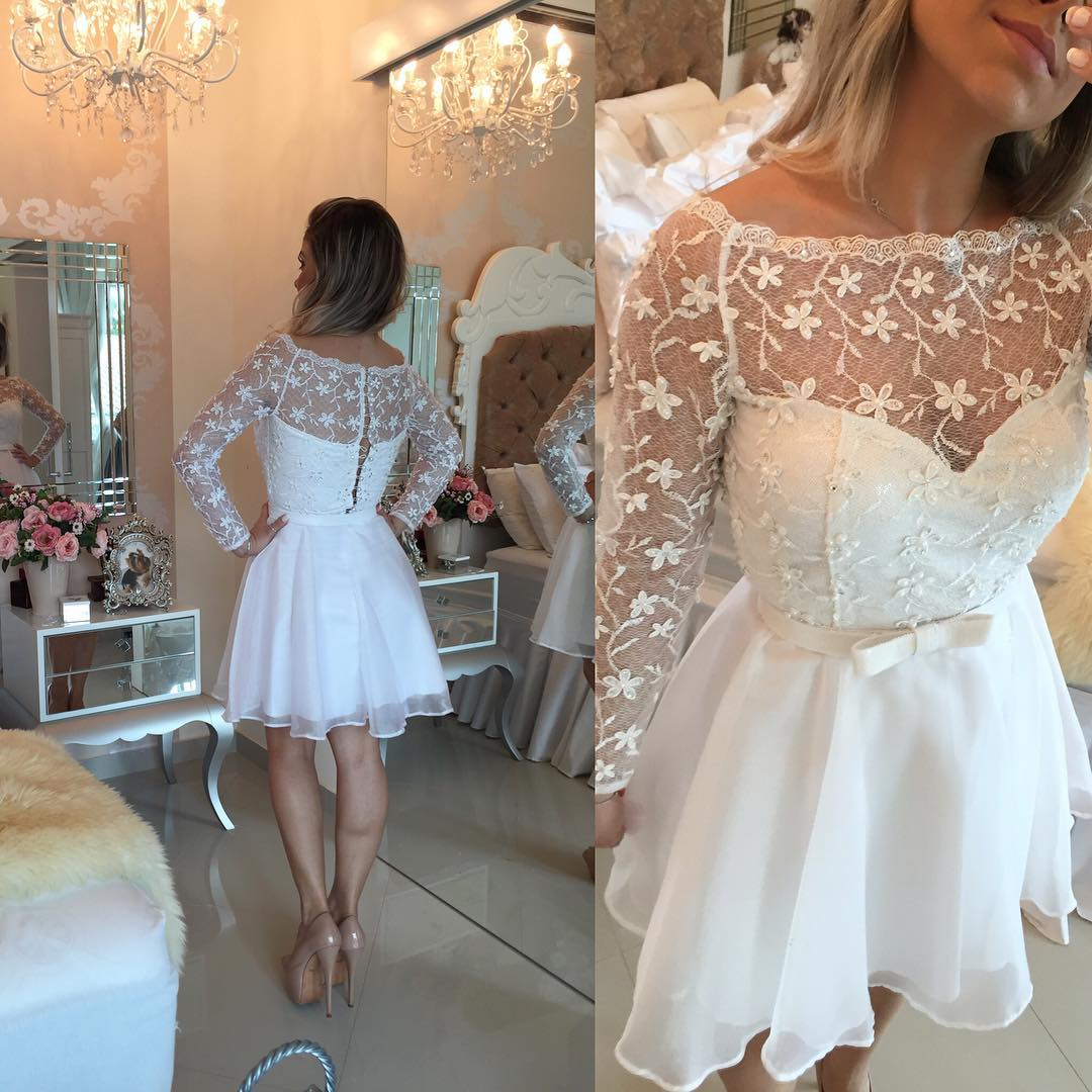 3277f5d6812 White Pearls Homecoming Dress