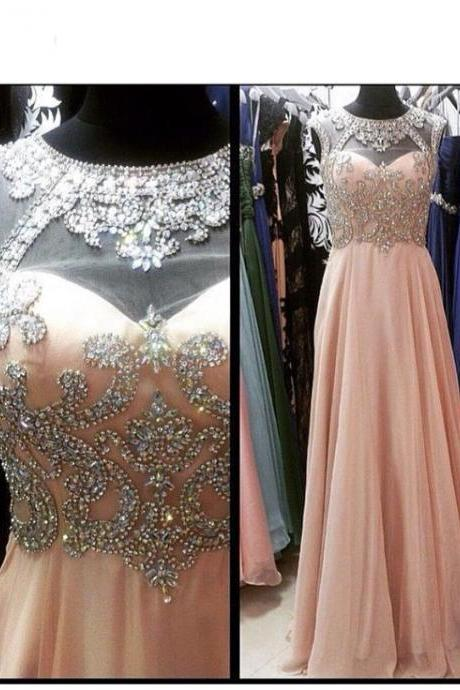 Prom Dress,Blush Pink Evening Gowns,Sexy Formal Dresses,Chiffon Prom Dresses,Fashion Evening Gown,Sexy Evening Dress,Party Dress,Bridesmaid Gowns