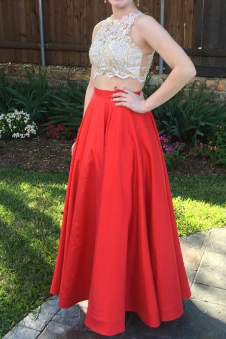 2 Piece Prom Gown,Two Piece Prom Dresses,Red Evening Gowns,2 Pieces Party Dresses,Chiffon Evening Gowns,Sparkle Formal Dress,Bling Formal Gowns For Teens,Pretty Prom Dresses,Discount Prom Dresses, Formal Occasion Dresses,Formal Dress