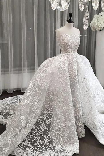 Wedding Dresses,New arrival wedding dress, cheap small train long bridal dresses