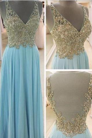 New Arrival Prom Dress Evening Dress Prom Gowns, Formal Women Dresses,chiffon Party Dress,blue Prom Dresses,Long Prom Dresses