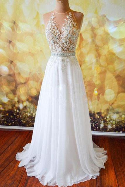 Charming Prom Dress,New Prom Dress,Prom Dress,Prom Gowns for Teens,Prom Party Dresses,white lace Evening Dress