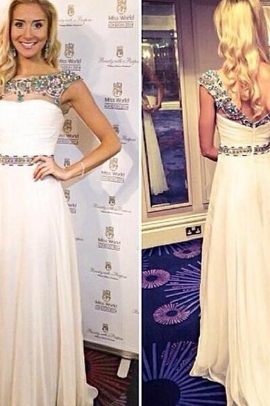 Simple Prom Dress,Prom Dresses,Charming Prom Dress,Sexy Prom Dress,white Prom Dress,Long Evening Dress,new Formal Gown