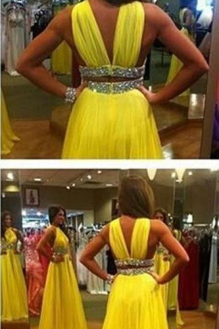 Charming Prom Dress,Modest Prom Dresses,Prom Dress,Prom Gowns for Teens,Prom Party Dresses,Yellow Evening Dress
