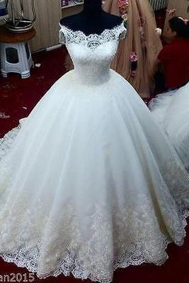 New ivory/white wedding dress bridal gown custom size 6 8 10 12 14 16 18+++