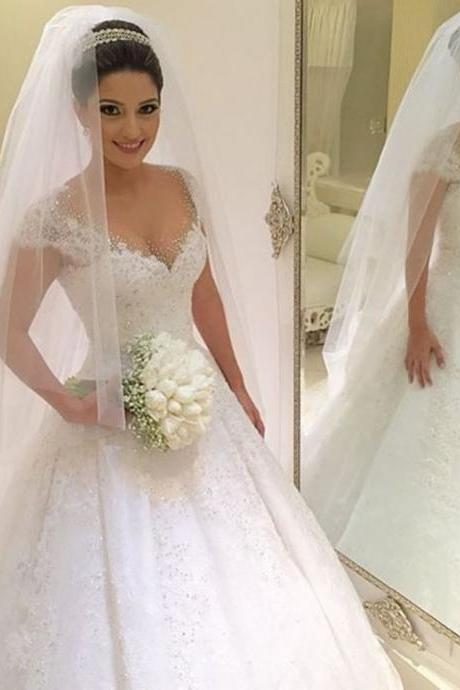 Wedding Dresses,New White/Ivory Wedding Dress Bridal Gown Custom Size 6 8 10 12 14 16 +++
