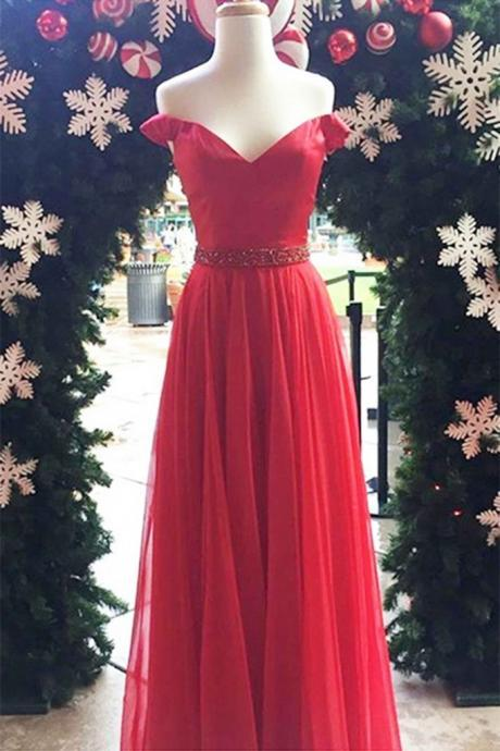 Charming Prom Dress,Elegant Homecoming Dress,Tulle Evening Dress,Red Prom Dresses,Long Homecoming Dress