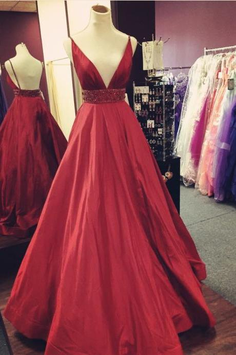 Burgundy prom dress,ball gown dress,long formal dresses,sexy evening dress