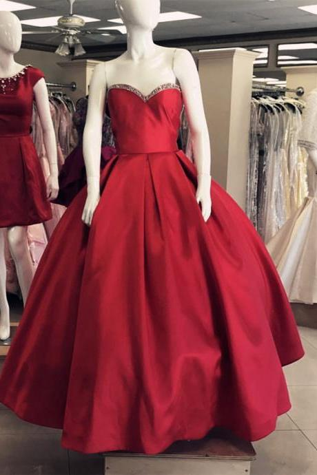 Ball gown prom Dresses red,Burgundy Quinceanera Dresses,Ball Gowns Prom Dress,Sweet 16 Dress,Sweetheart Dress