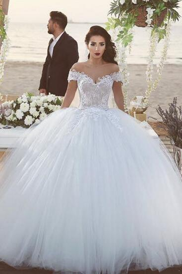 Wedding Dresses Bridal Gowns Princess With Sash Blue