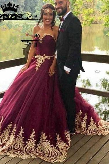 wine red prom dress,burgundy prom gowns,ball gown wedding dresses,bridal dress