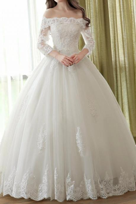 Appliques Tulle Wedding Dresses, Wedding Gowns, Sexy Bridal Dresses