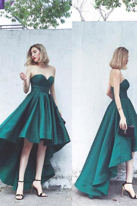 High-Low Prom Dress,Satin Prom Dress,Wonderful Prom Dresses,Junior School Dress P0083