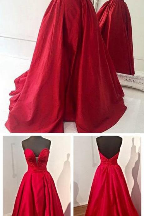Sweetheart Prom Dress Ball Gown,Gorgeous Prom Dresses,Evening Dress with Open Back