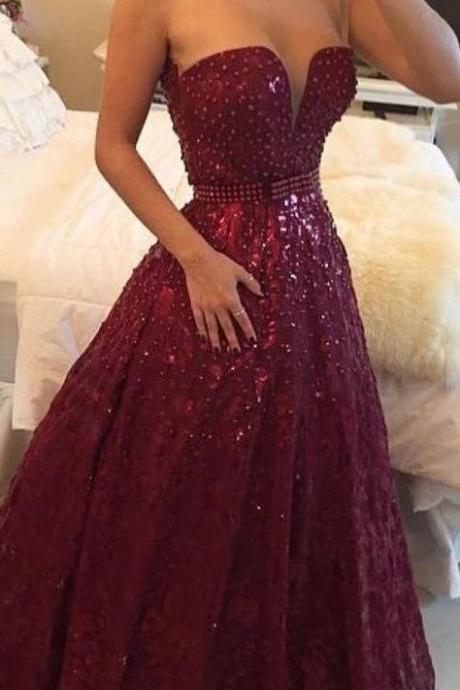 High Quality Prom Dress,Charming Prom Dresses,Noble Prom Dress,Beading Prom Dress,Strapless Prom Dress