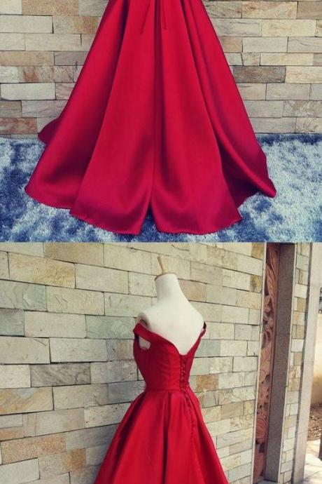 Sexy Prom Dresses,Long Homecoming Dress,Red Ball Gown Prom Dress,Formal Dress