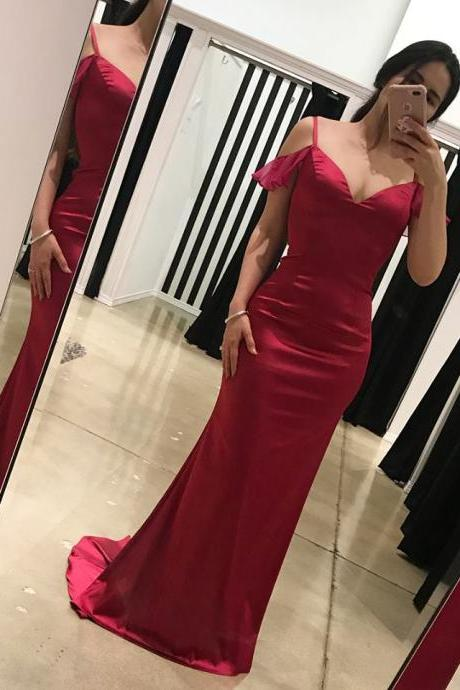 Charming Prom Dress, Long Prom Dresses, Sexy Mermaid Evening Dress P0254