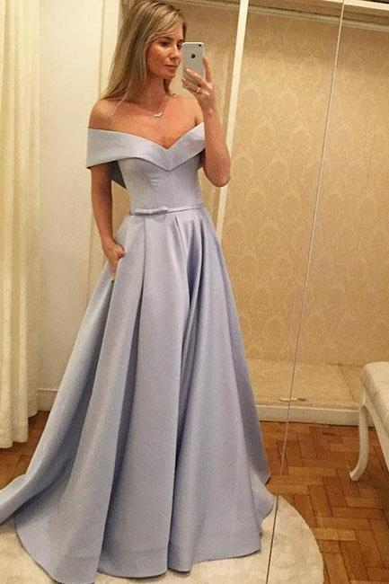 Fashion Evening Dress, Sexy Off Shoulder Prom Dress,Long Prom Dresses