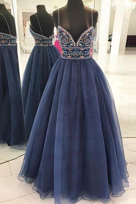 Beading Evening Dresses,Elegant Evening Dress,Cheap Evening Gowns,Party Gowns,Modest Prom Dress