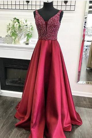 Sparkly Red Long Prom Dress Evening Dress,Prom Dresses,Evening Dress, Prom Gowns, Formal Women Dress,prom dress