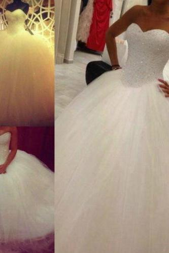 Wedding dress, Bridal Gown custom size,Tulle Ball Gown ,Princess Wedding Dresses ,Bridal Gown