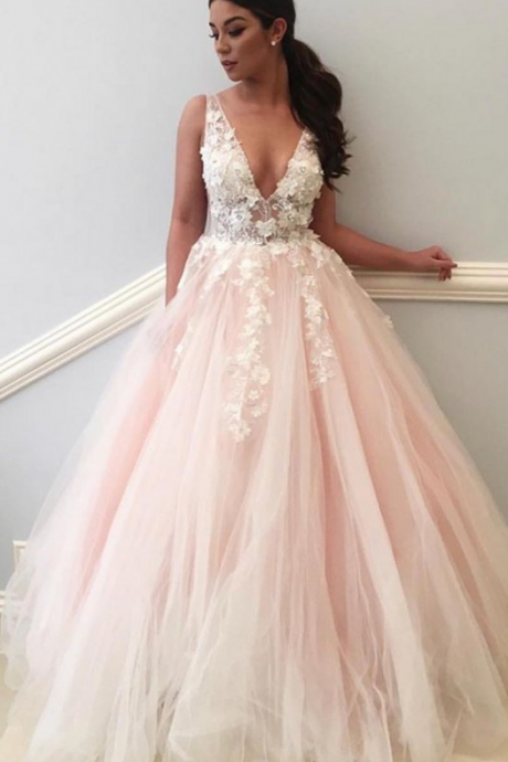 Cheap Prom Dresses,Long Prom Dress,Sexy Evening Dress, Flowers Evening Dress,Ball Gown Evening