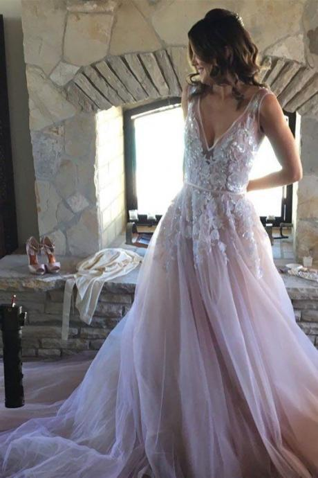 spaghetti Appliques Lace Wedding Dresses,Bridal Dress, from fashion dress,Wedding Dress