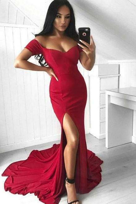 Red Prom Dress,Mermaid Prom Dresses,Fashion Prom Dress,Sexy Party Dress, New Style Evening Dress