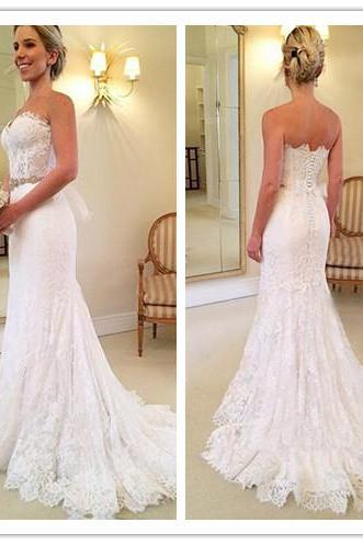 Wedding Dress, Beautiful Wedding Dress, Sweetheart Wedding Dress, White Wedding Dress, Lace Wedding Dress, Popular Wedding Dress, Crystal Wedding Dress, Long Bridal Gown for Women