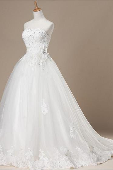 Discount Wedding Dresses, 2015 Wedding Dress,Lace Wedding Dress,Princess Wedding Dress,Pregnant Wedding Dress,A line Wedding Dress,Strapless Wedding Dress, Floor length Wedding Dress,Lace-up Wedding Dress,Wedding Gowns,Bridal Dresses, Bridal Wedding Gown,Bridal Dress,custom wedding dresses