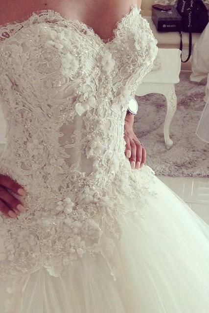 Lace Sweetheart Princess Wedding Dresses 2016 Romantic Bridal Gowns, Tulle wedding Dresses,A-Line Floor-Length Evening Dresses, Charming Wedding Dresses,Wedding Dresses, Charming Dresses,sexy Strapless wedding dresses,A-Line Sweetheart Tulle Wedding Dresses Bride Gown Party Deb Ball Pageant,Sleeveless Wedding Dresses,Lace Bridal Wedding Gown,Bridal Dress,custom wedding dresses