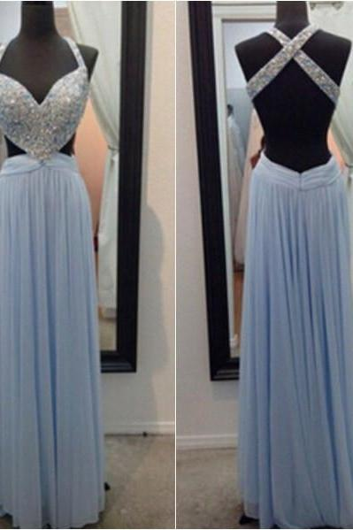 Prom Dress,Prom Dresses,Blue Chiffon Prom Dresses,Prom Dresses 2016,A-line Prom Dresses,Chiffon Prom Dresses,Cheap Prom Dresses,Long Beaded Prom Dresses,Backless Party Dresses,Prom Dresses Long,Sexy Prom Dresses,Prom Dresses for Girls,Sexy Party Dresses,girls party dress, sexy prom Dresses,homecoming dress , 2016 cheap long sexy prom dress .
