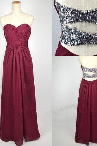 Shiny Burgundy A-line Sweetheart Floor Length Prom Dresses, Bridesmaid Dresses, Long formal Dresses,Evening Dresses, New Handmade Enhancing Ball Gown Sweetheart Asymmetrical Beaded Prom Dresses, Party Dresses,Elegant Homecoming Dresses,Short Party Dresses